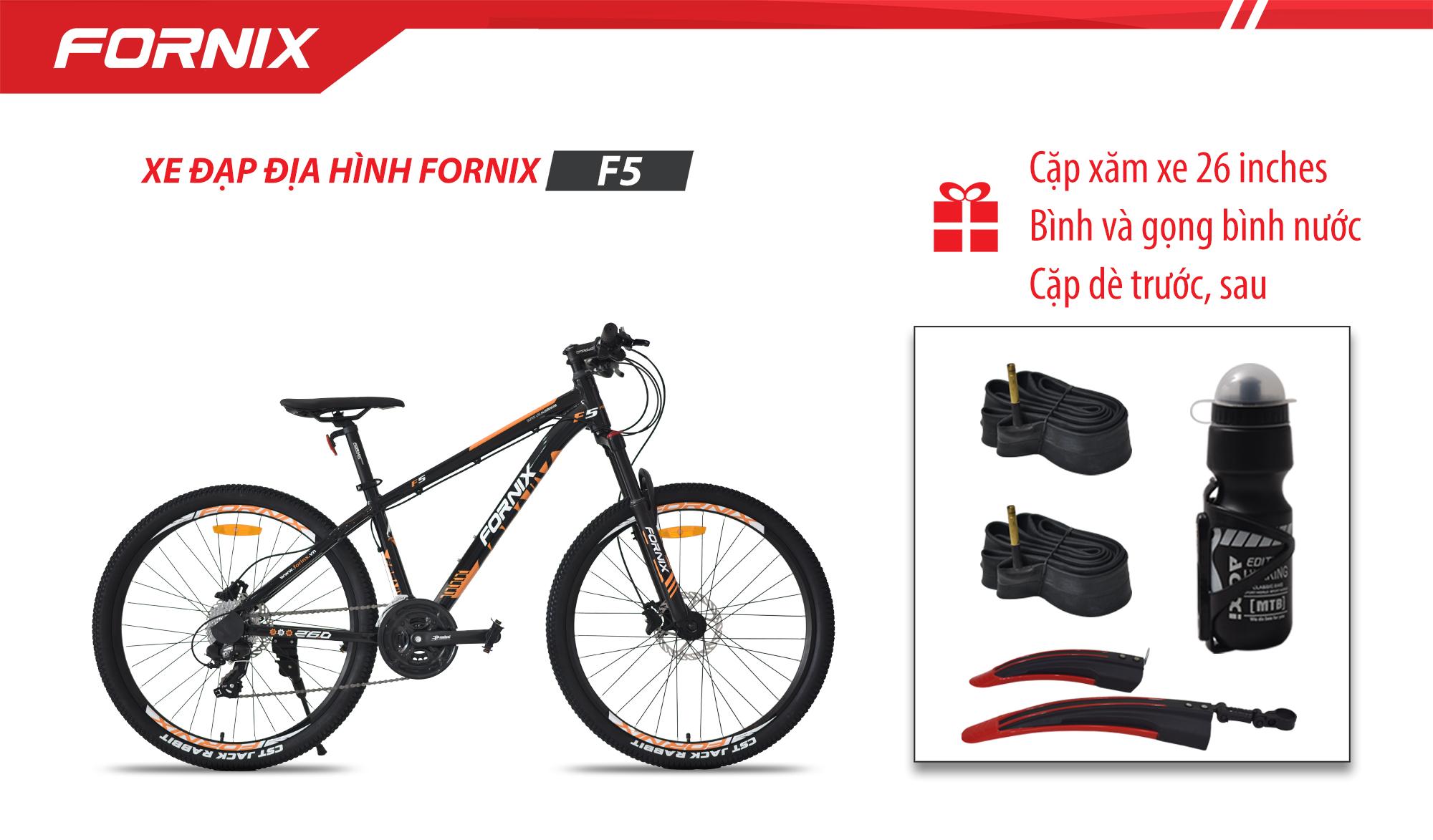 Mua Xe đạp địa hình thể thao Fornix F5+ (Gift) Cặp ruột 26 + Bình và gọng bình + Cặp dè