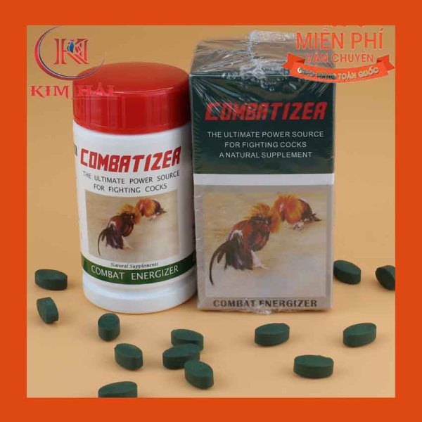 COMBATIZER-Thuốc nuôi gà đá hiệu quả cao- Taiwan [lọ 100 viên ]Panax Gingseng mang lại công dụng bồi bổ sức khỏe ,tăng cường thể lực,Vitamin B12 duy trỳ sự khỏe mạnh của quá trình trao đổi chất