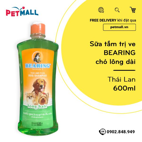 Sữa tắm trị ve BEARING chó lông dài 600ml - Thái Lan