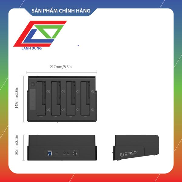 Bảng giá Chính hãng ORICO Đế Dock ổ cứng 4 khay 3.52.5 USB 3.0 Đen 6648US3-C-BK Phong Vũ