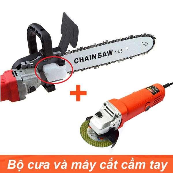 Combo máy mài góc  Aotuo + lưỡi cưa xích - máy cưa cầm tay siêu rẻ - cưa cành - cắt gỗ - lưỡi lam cắt gỗ - máy mài góc - máy chà nhám