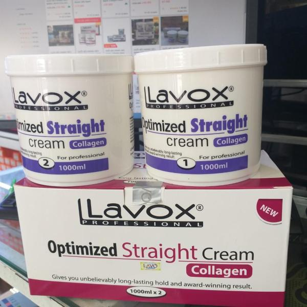 Kem duỗi tóc Lavox tím Collagen 1000ml x2 giá rẻ