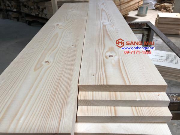 [MS33] - Tấm gỗ thông mặt rộng 20cm x dày 2cm x dài 1m2 + láng nhẵn mịn 4 mặt