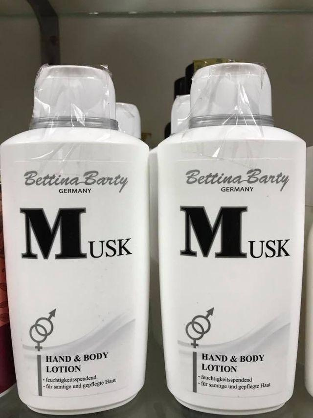Sữa dưỡng thể Bettina Barty Musk Hand and Body Lotion- hàng xách tay nội địa Đức chính hãng