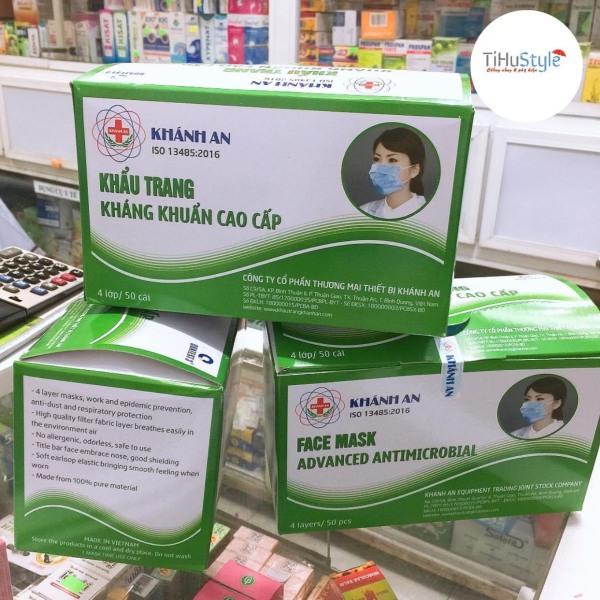 [THEO THỜI GIÁ] Hộp 50 cái khẩu trang y tế Khánh An 4 lớp vải không dệt KK ISO 13485:2016 giá rẻ