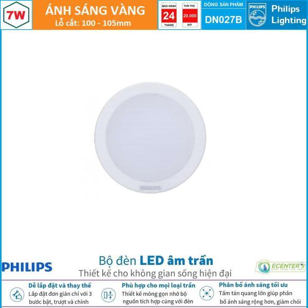 Đèn Led Âm trần 7W Philips Downlight DN027B LED6 D100 ( Ánh Sáng Vàng & Trung Tính & Trắng )