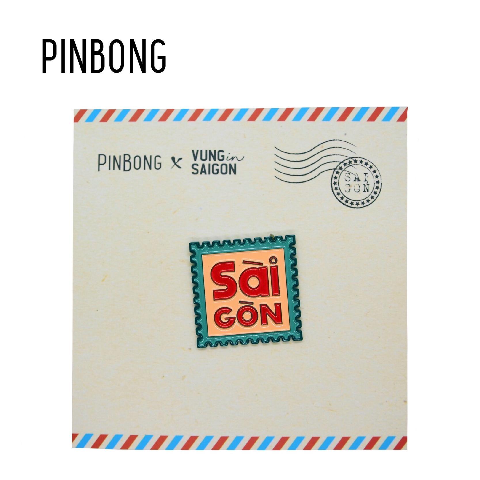Huy Hiệu Tem Sài Gòn PINBONG