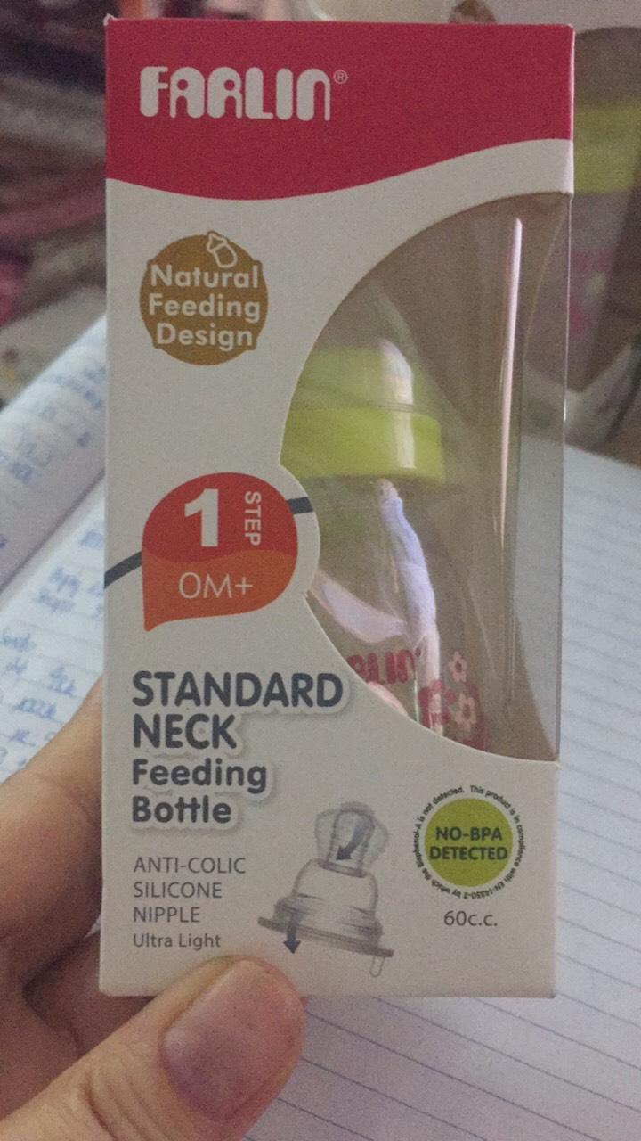 Farlin - Bình sữa cổ chuẩn bằng nhựa Farlin 60cc
