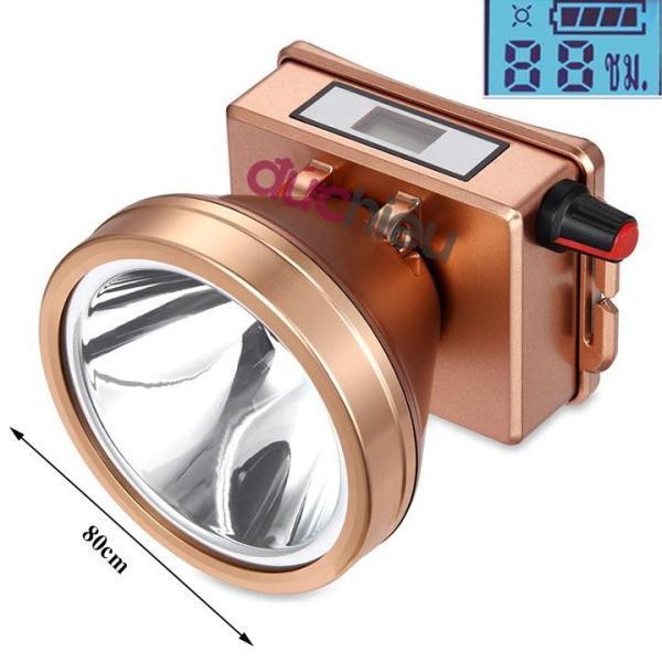 Đèn pin đội đầu siêu sáng màn hình LCD volume điều chỉnh ánh sáng, đèn đeo đầu, đèn pin, đèn đội đầu - Đức Hiếu Shop