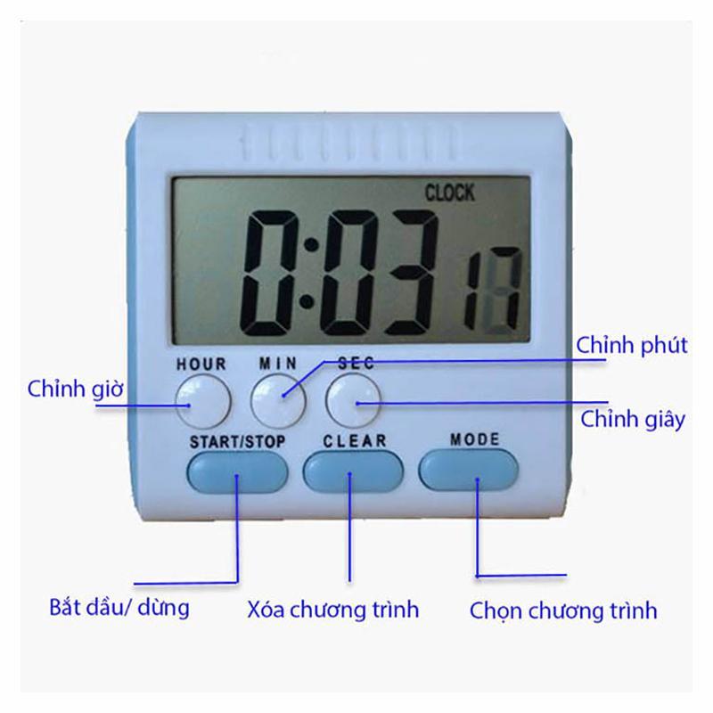 Nơi bán Đồng hồ bấm giờ đếm ngược điện tử mini V3 (pin đũa) (âm báo to) Giá tốt