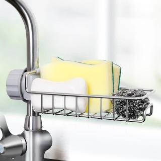 Giá Inox để đồ rửa bát lắp đặt vòi lavabo dễ dàng tiện dụng, Khay Inox để đồ ( Cam kết 100% Inox Sáng Bóng ) thumbnail