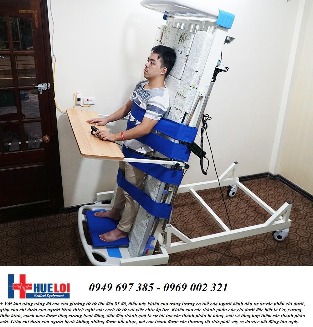 Giường điện đa năng kèm tính năng tập đứng - Giường tập đứng - Giường bệnh đa chức năng nhập khẩu
