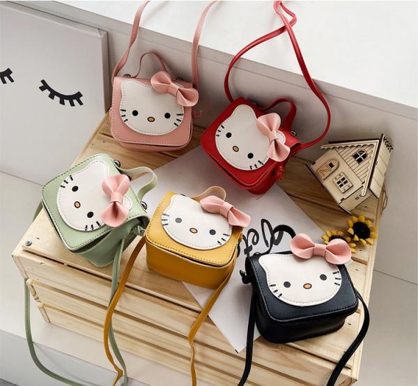 Giá bán Túi đeo chéo cho bé gái mini ZAKUDO dễ thương, ngộ nghĩnh, thời trang hình MÈO da PU phong cách Hàn Quốc TX03