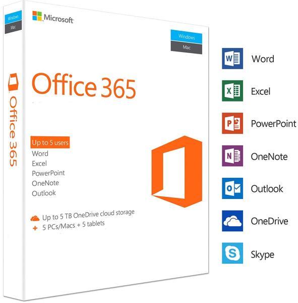 Bảng giá Phần mềm Office 365 Pro Plus cài được 5 thiết bị kèm Onedrive 5TB Phong Vũ