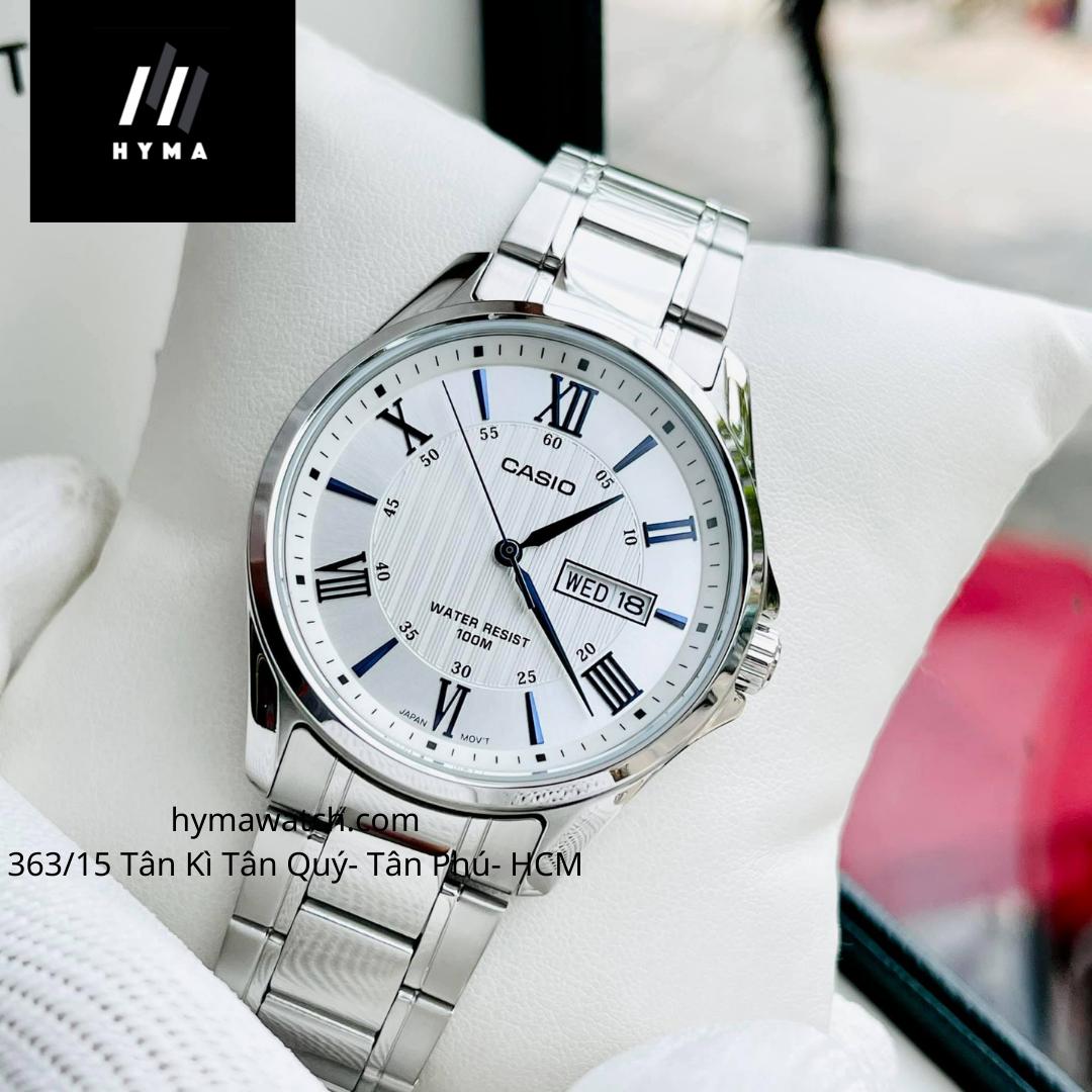 [HCM]Đồng hồ nam cao cấp Casio MTP 1384D-7A2VDF Bảo hành 1 năm- Pin trọn đời Hyma watch