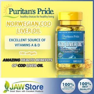 Sales (HSD 30 4 2021) Dầu gan cá tuyết PREMIUM GOLD giúp sáng mắt Puritan s Pride Cod Liver Oil 100 viên thumbnail