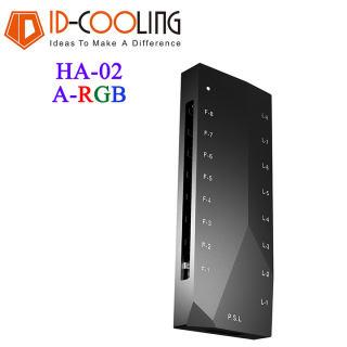 Bộ fan hub ID-Cooling HA-02 ARGB Fan Hub - Fan hub 8 cổng 4-pin và 8 cổng ARGB 5v 3-pin