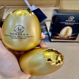 Mặt nạ làm căng da mặt quả trứng vanekaa yeast royal jelly egg shell mask cream thumbnail