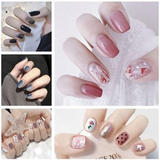 Bộ dán móng tay nail sticker gồm 14 móng, không thấm nước, độ đàn hồi tốt DA201-DA220 thumbnail
