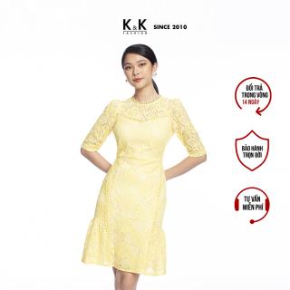 Đầm Công Sở Ren Nữ Vàng Dáng Chữ A K&K Fashion KK106-36 thumbnail