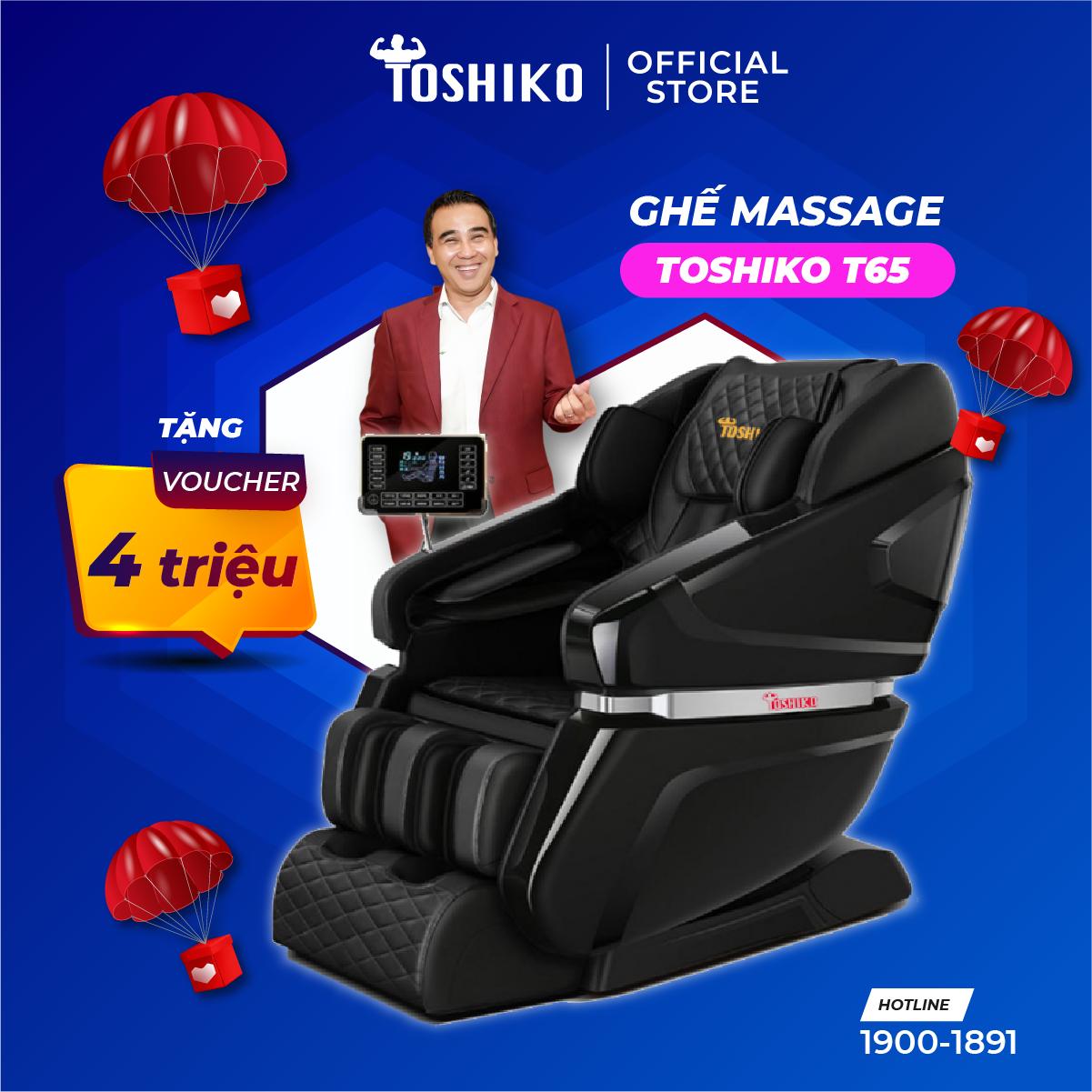 Ghế massage trị liệu toàn thân cao cấp Toshiko T65 hàng chính hãng bảo hành 6 năm