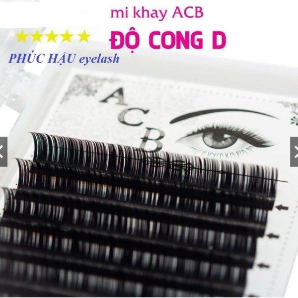 Mi khay ACB độ cong D, chất mi silk Hàn, mềm, dễ bắt keo dùng để nối volume, classic