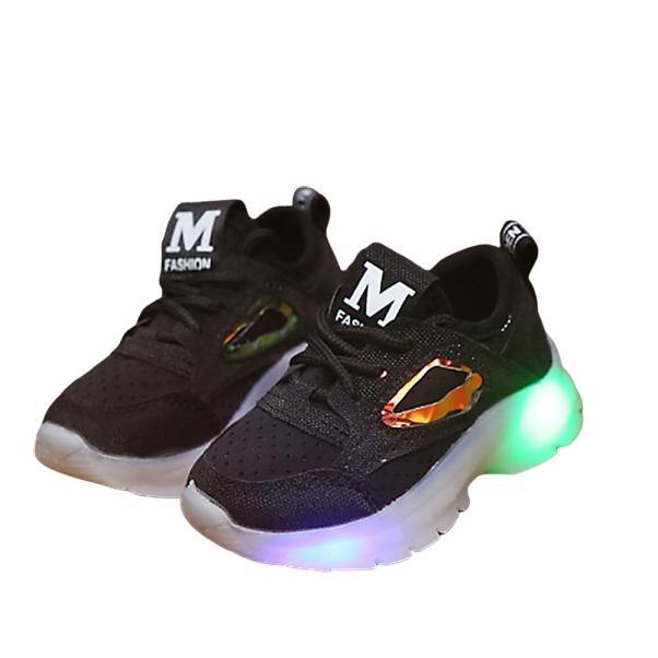 Giày Cho Bé Trai Và Bé Gái Thể Thao Ren Lưới Giày Lưới Thường Ngày Bé Căng Vải Thoáng Khí Đèn Led Nhấp Nháy Giày giá rẻ