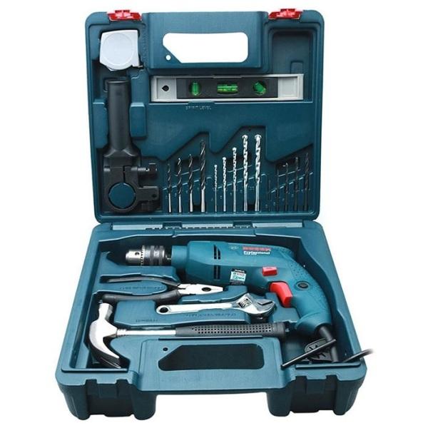 Máy khoan động lực Bosch GSB 550 kèm hộp phụ kiện 19 chi tiết - TẶNG ÁO MƯA BOSCH