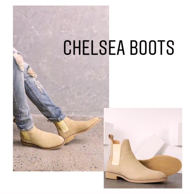Giày Chelsea Boot Nam Da Bò Lộn Đế Cao Su Đúc Bảo Hành 12 Tháng giá rẻ