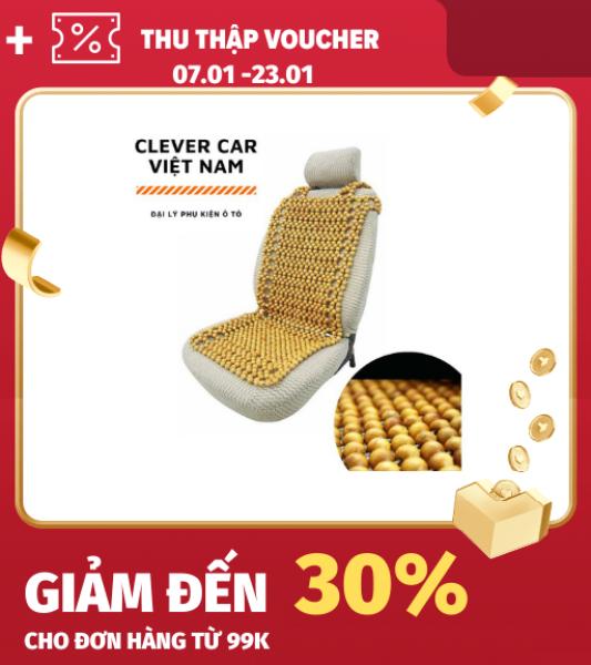 [FLASHSALE] Lót ghế ô tô hạt gỗ bền đẹp êm ái và thông thoáng khí