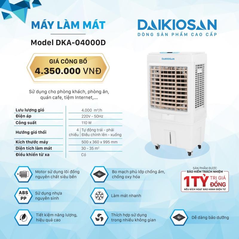 Quạt điều hòa (Quạt hơi nước) Daikio DKA-04000D