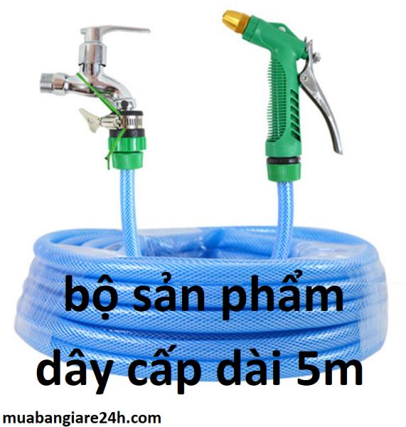 Tèn ten A đây rồi Bộ sản phẩm dây và vòi xịt, tăng áp lực nước lên 300%. phù hợp rửa xe tưới cây. sân vườn loại 5m xanh