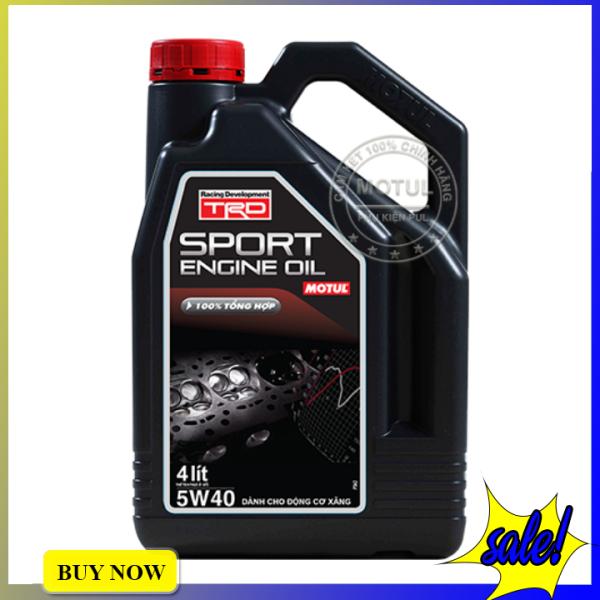 Nhớt Xe Hơi Motul TRD Sport Engine Oil 5W40 Gasoline/Diesel Bình 4 Lít - Hàng Chính Hãng