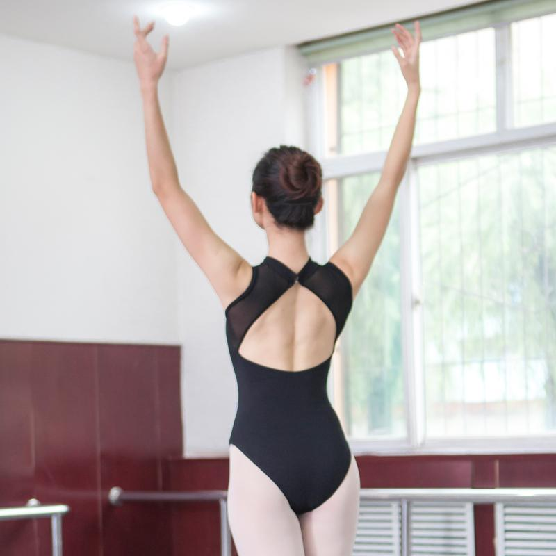 High Hip Gauze Big Back Elasticity Exercise Clothing Profession Dance Shapewear One-Piece After Triangle Adult Ballet Clothes By Taobao Collection.