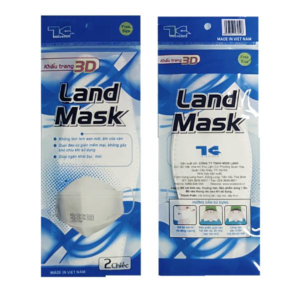 Khẩu trang 3D Land Mask loại VIP (gói 2 chiếc, kiểu dáng thông minh như KF94)/3D 마스크/4層マスク nhập khẩu