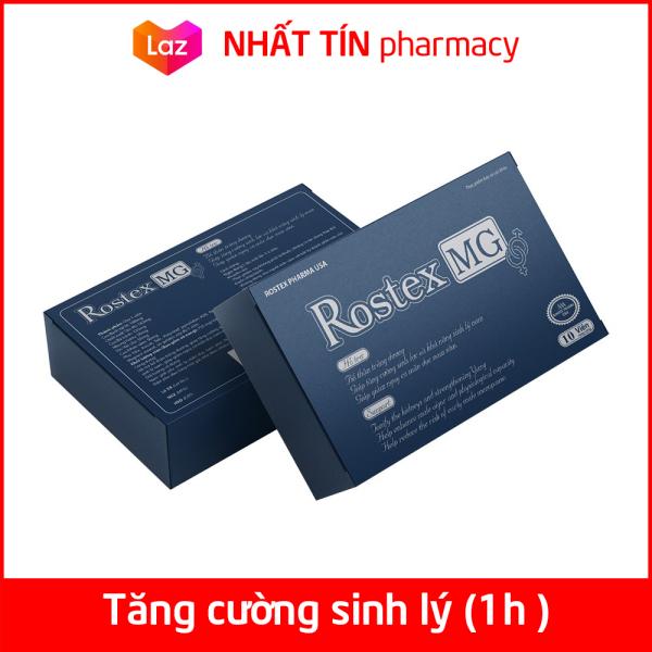 Tăng cường sinh lý nam loại 1h Rostex MG bổ thận, tráng dương, tăng sinh lực, kéo dài thời gian - Hộp 10 viên