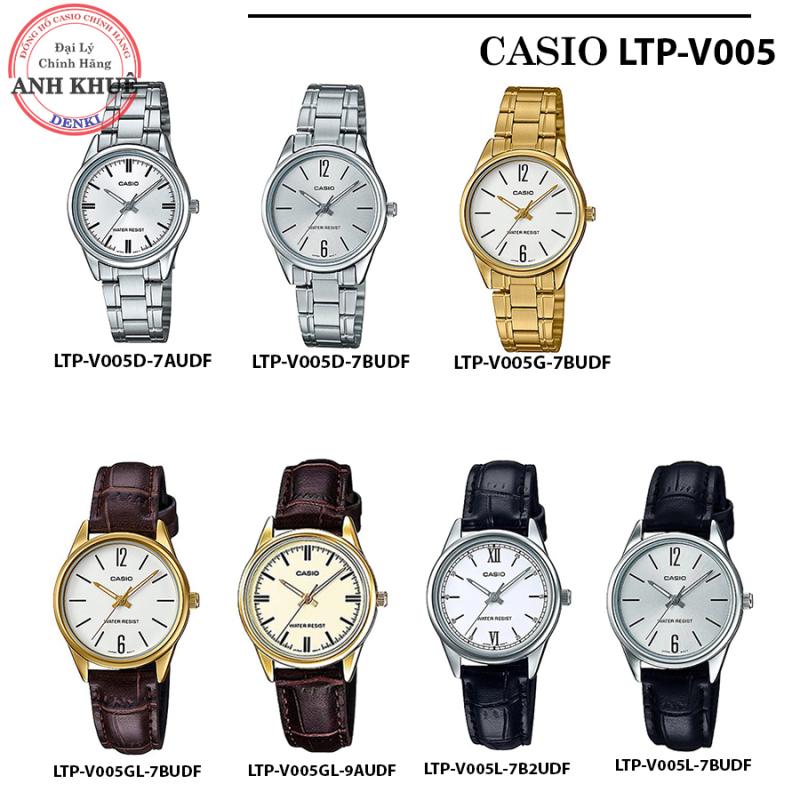 [FREESHIP] Đồng hồ Nữ Casio Standard Anh Khuê LTP-V005 - Bảo hành 1 năm - Pin trọn đời