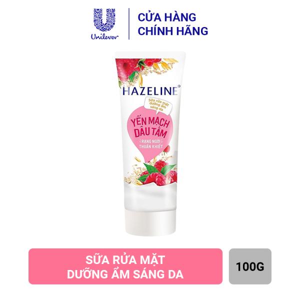 Sữa Rửa Mặt Hazeline Dưỡng Ẩm Sáng Da Yến Mạch & Dâu Tằm (100g)