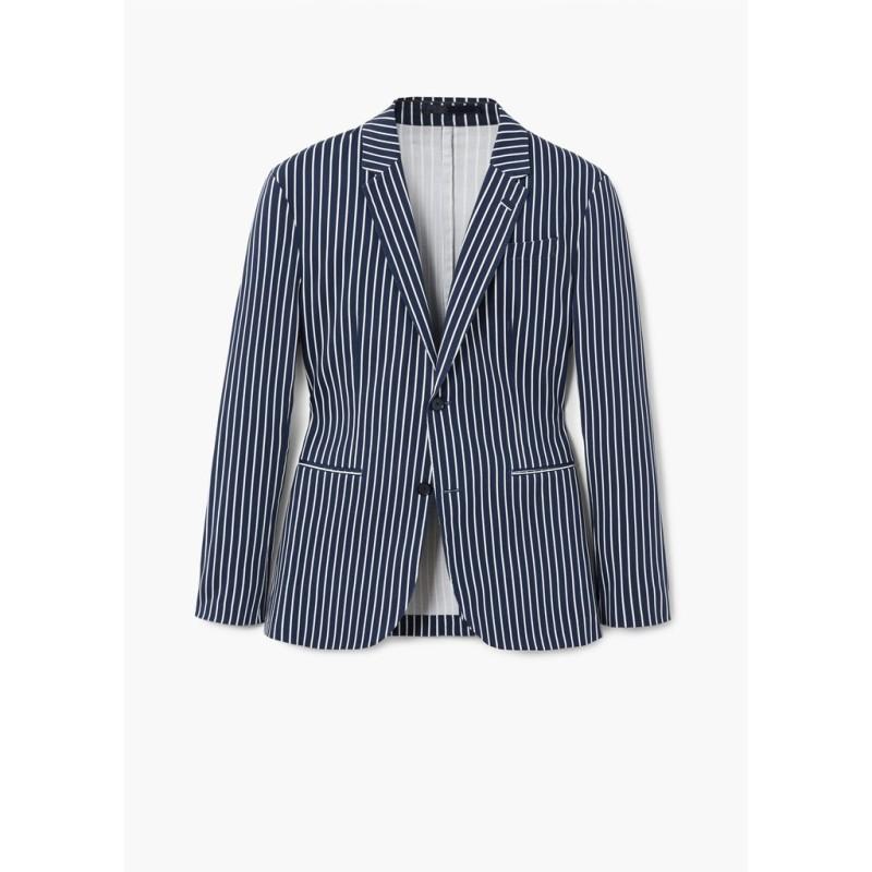Mango Áo Blazer Nam Slim fit striped cotton - 33080682