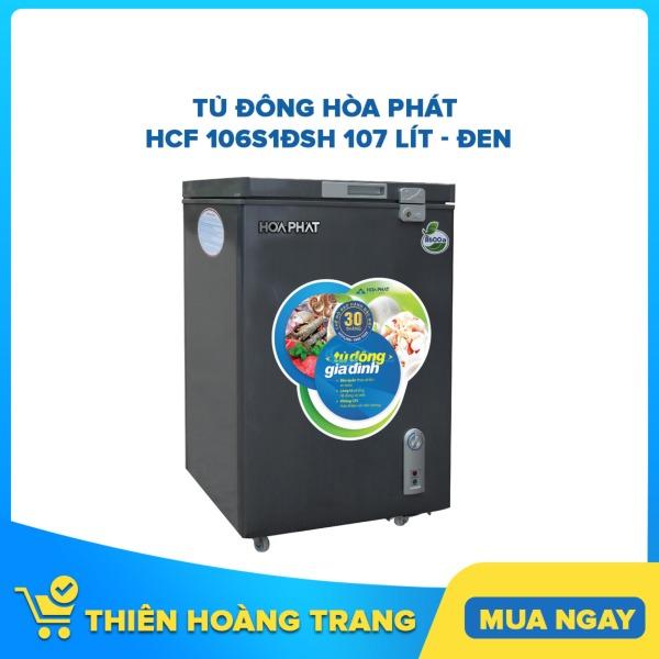 Tủ đông Hòa Phát HCF 106S1ĐSH 107 lít - đen