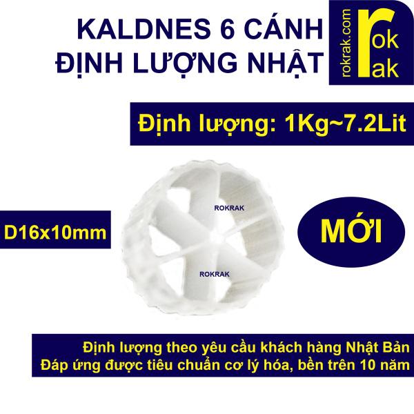 Hạt lọc Kaldnes 6 cánh loại tốt 1 kg ~7.2Lit mới đường kính 16mm, nguyên liệu HDPE nguyên sinh an toàn, độ bền 10 năm