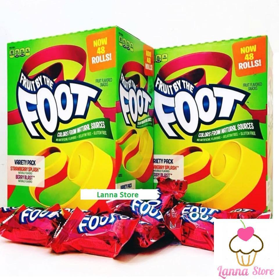 [combo 5 cuộn] Kẹo Cuộn Foot Vị Berry - Mỹ