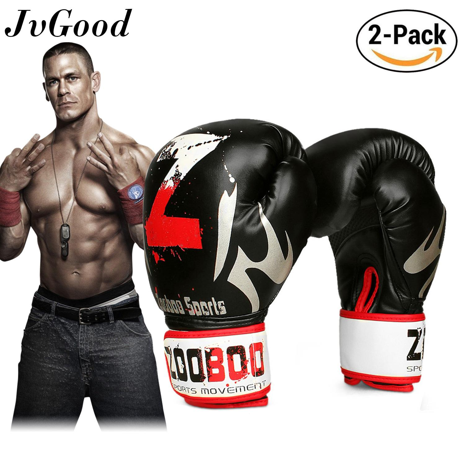 Jvgood Sarung Tangan Tinju Boxing Punching Gloves Mitts 10oz Mma Muay Thai Training Pu Boxing Pads Fighting Kickboxing Sports Gloves Sparring Boxing Gloves Gym (1 Pair) By Jvgood.