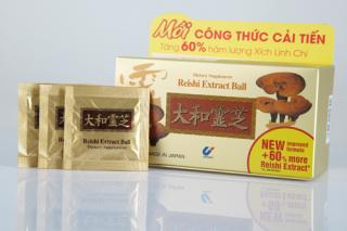 [Hộp 30 gói] Ổn định huyết áp tăng cường chức năng gan bảo vệ gan REISHI EXTRACT BALL - Tăng cường chức năng giải độc gan thumbnail