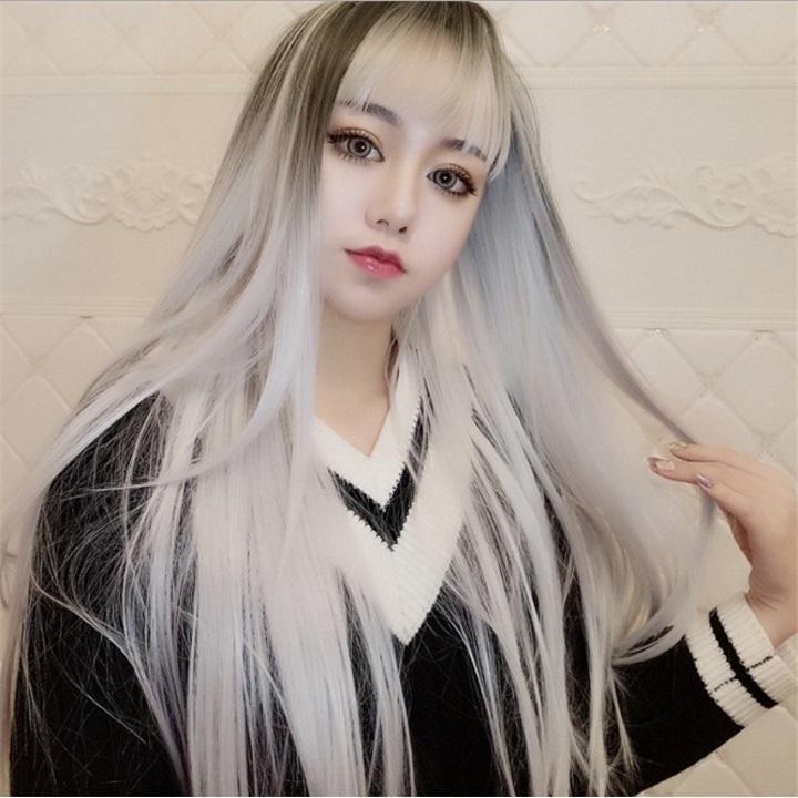 Tóc giả nữ Hàn Quốc + Tặng kèm lưới T192 giá rẻ
