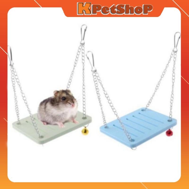 Xích đu đồ chơi cho Hamster, Sóc Bay Úc... - Xanh biển