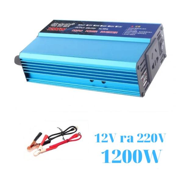 Bảng giá Bộ kich điện inverter 12v lên 220v 1200W - Bộ chuyển đổi điên 12v lên 220v