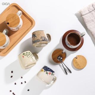 GIGA EssentialCốc đổi lò kiểu Bắc Âu Cà Phê dung tích lớnCốc gốm và cốc ăn sáng cốc ăn sáng ngũ cốc màu xám lạnh Retro thumbnail