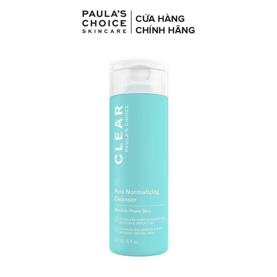 Sữa rửa mặt dạng gel ngăn ngừa mụn và se khít lỗ chân lông Paula's Choice Clear Pore Normalizing Cleanser 177 ml