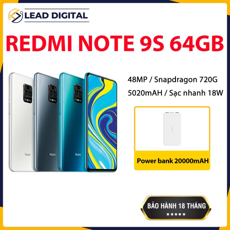 [GLOBAL VERSION] Điện thoại Xiaomi Redmi Note 9S 4GB/64G - FULL TIẾNG VIỆT, Snapdragon 8 nhân 720G, Màn hình 6.67 inches, Pin siêu khủng 5020mAh sạc nhanh 18W, Cụm 4 Camera 48MP/8MP/5MP/2MP góc siêu rộng, Quay phim 4K - BH CHÍNH HÃNG 18 tháng